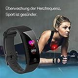 Juboury Fitness Armband mit Pulsmesser Blutdruckmesser, Fitness Tracker Smartwatch Wasserdicht IP68 Aktivitätstracker Schrittzähler Uhr Damen Herren Farbbildschirm SMS für iPhone Android Handy - 4