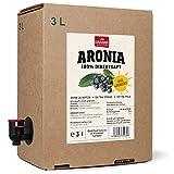 3 x 3 Liter Aronia Muttersaft in der Box, Extra Sonne, Späte Ernte, Extra milder Geschmack