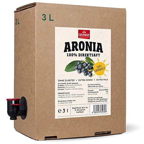 Aronia Muttersaft 3 Liter Box, Extra Sonne, Späte Ernte, Extra milder Geschmack