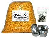 Bastelpackung Palettas gelbe Bienenwachsperlen 1 kg Bienenwachs 100% rein Pastillen