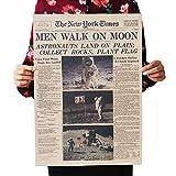 Apollo-Mondlandung - New York Times nostalgisches Retro-Kraftpapierplakat-Innendekorationanstrich51X36cm