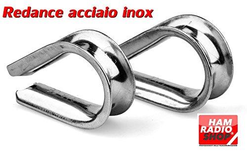N. 10 Redance in Acciaio Inox 4 mm per fili da 2 a 4 mm