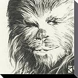 1art1 78829 Star Wars - Chewbacca Portrait Zeichnung Poster Leinwandbild Auf Keilrahmen 30 x 30 cm