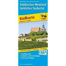 Fränkisches Weinland - Liebliches Taubertal: Radkarte mit Ausflugszielen, Einkehr- & Freizeittipps, reißfest, wetterfest, abwischbar und GPS-genau. 1:100000 (Radkarte / RK)