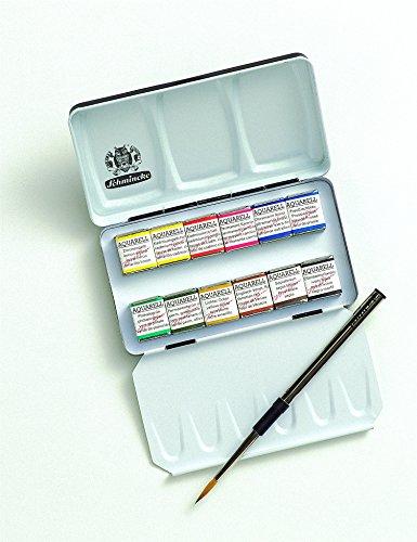 Schmincke Hälfte Pfanne Watercolor Pocket-Set 'Ein Kompaktes Metall Travel Box (74012097)