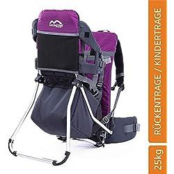 MONTIS Runner One - Porte-bébés Dorsal - jusqu'à 25kg - Plusieurs Coloris (Violet)