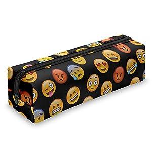Fringoo – Estuche con cremallera, diseño de emoticonos, color Emoji Black