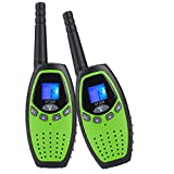 2X Walkie Talkies Mksutary Long Range Two-Way Radio Toy for for Kids Children Games, Green/Black ¡