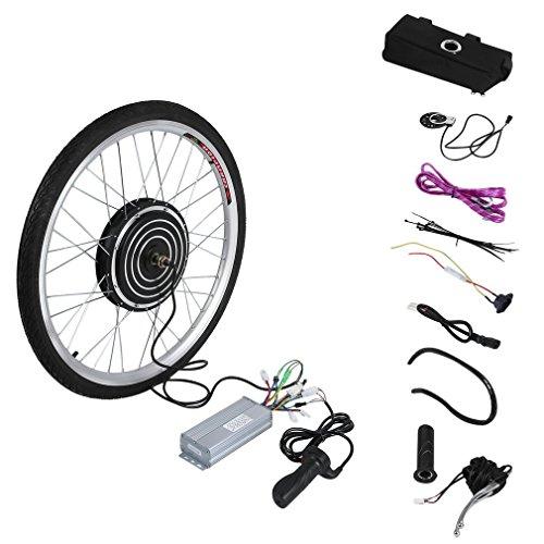 Poncherish 36V 500W E-Bike Conversion Kit Elektrofahrrad Umbausatz 26 Zoll Cycling Hub Rear Motor