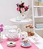 Royal Albert Polka blaue Vintage Teetasse und Untertasse - 4