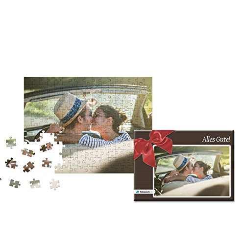 fotopuzzle.de Fotopuzzle 200 Teile Individuelles Puzzle mit eigenem Foto inkl. Puzzle-Schachtel mit eigenem Foto und Titel (Schleife Rot) - Foto Puzzle