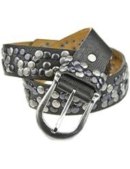 Bags4Less Nieten Gürtel im Vintage Style mit echtem Leder