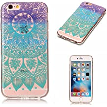 Linvei iPhone 6(4.7 pulgadas)Funda,iPhone 6S Bumper Case,Diseño de patrón colorido / Ultra Thin TPU Silicona Case Funda para iPhone 6/6S(4.7 pulgadas)