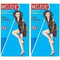 Müjde İnce Lastikli Çorap Kadın Çorap Ve Külotlu Çorap, 12'li Paket