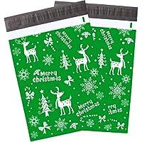 Blulu - Paquete de 100 sobres de regalo para Navidad con copos de nieve, 25,4 x 33 cm