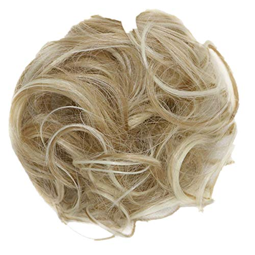 Luckhome Haargummi Haarteil Dutt Synthetik Haare Für Haarknoten Zopf Gummiband Hochsteckfrisuren Haarband Frauen Lockiges Unordentliches...