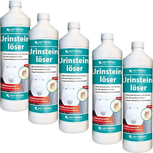 5 x HOTREGA Urinsteinlöser 1000ml Flasche