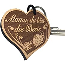 """Schlüsselanhänger """"Mama, du bist die Beste"""" sehr gute Qualität Muttertag Geschenk aus Holz mit Gravur vom ORIGINAL endlosschenken"""