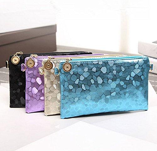 Eysee, Poschette giorno donna blu Purple 20cm*11.5cm*1.5cm Champagne
