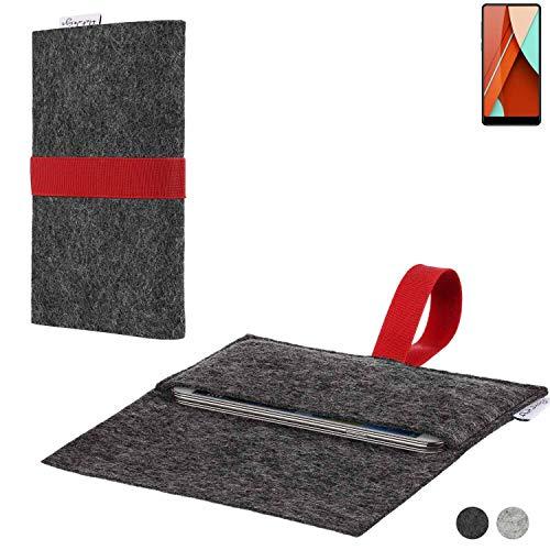 flat.design Handy Hülle Aveiro für Bluboo D5 Pro passgenaue Filz Tasche Case Sleeve Made in Germany