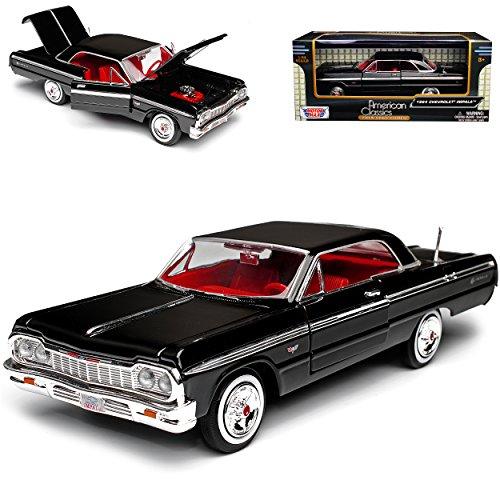 Chevrolet Impala SS Coupe Schwarz 1964 1/24 Motormax Modell Auto mit individiuellem - Modell Impala Chevy Auto