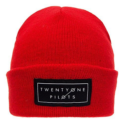 Berretto Beanie Knitted Logo Twenty One Pilots (Rosso)