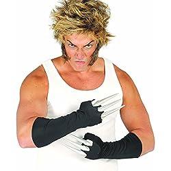 Guantes con garras Manos con uñas lobezno Zarpas alien Espolones Halloween Accesorio disfraz superhéroe Complemento ninja