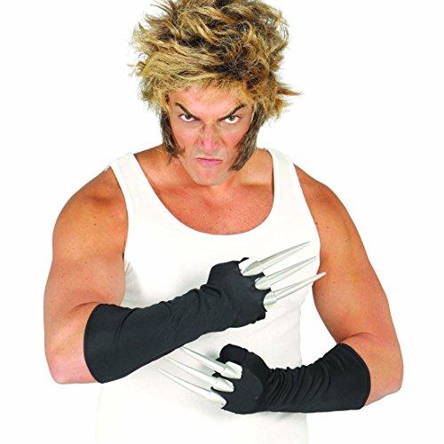 Superhelden Accessoires Kostüme (Krallenhandschuhe Klauenhandschuhe Wolverine Alienkostüm Krallen Halloween Klauen Superhelden Kostüm Zubehör Krieger Ninja)