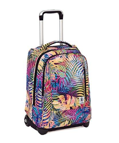 Trolley invicta - tindy- multicolore - 36 lt spallacci a scomparsa! uso zaino scuola e viaggio