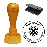 Stempel mit Kissen « SCHLOSSER ZUNFT » Adressenstempel Firmenstempel
