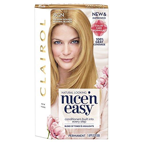 Clairol Coloration de longue durée Nice 'n Easy - Couleur 105G - Blond moyen doré neutre naturel
