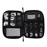 Veevan Portable Cable Tidy Travel Electronic Accessories Organiser USB Drive Charger Storage Pouch with Cord Navy
