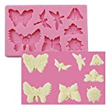 Asian Hobby Crafts Silicone Resin Gumpaste Fondant Clay Marzipan Cake Mould: Design : Butterfly