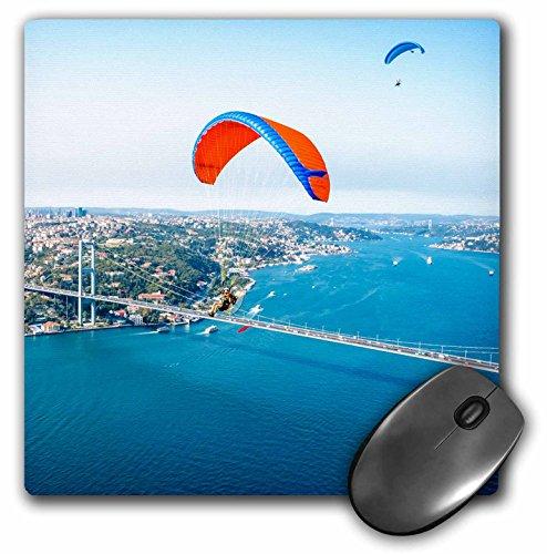 Danita Delimont - Ali Kabas - Aircraft - Paramotors pilots flying over Bosphorus and Bridge, Istanbul, Turkey - MousePad (mp_187051_1)