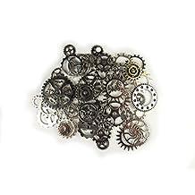 50x Steampunk Zahnräder Gothic Charms Silber aus Metall