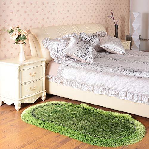 Rose Oval Teppich (ROSE GUO Teppich Dickes Oval Elastische Seide Moderne Einfachheit Matte Wohnzimmer Schlafzimmer Bettvorleger,12-70 * 140cm)