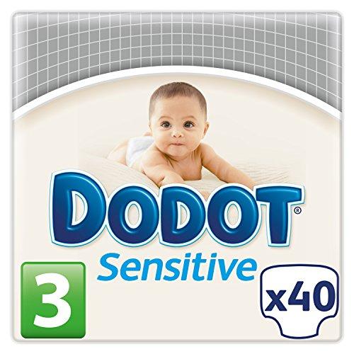 Dodot Pañales Sensitive, Talla 3 (5-10 kg) - 40 Pañales