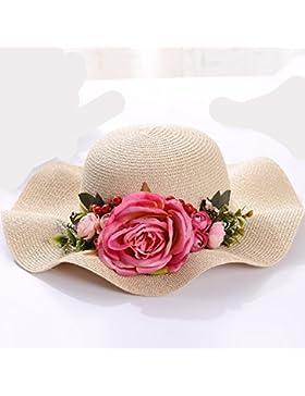 LVLIDAN Sombrero para el sol del verano Dama SolAnti-sol Beachstrawhat beige