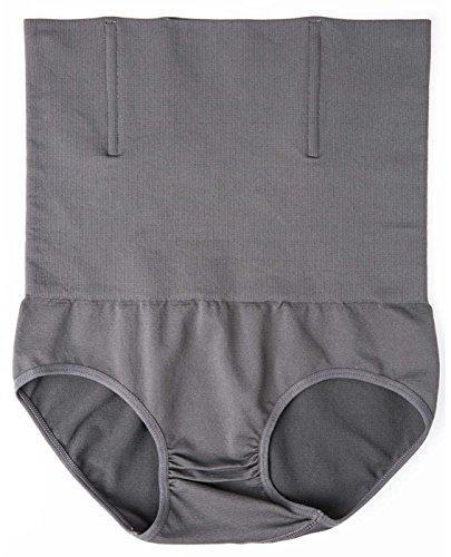 Herren Hohe Taille Figurformend Bauchweg Unterwäsche Funktions Unterhose Body Shaper Underwear Shapewear - Kompression im Bauchbereich M-2XL Grau