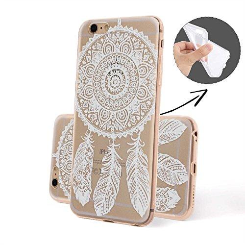 Finoo ® | Iphone 6 / 6S Handy-Tasche Schutzhülle | ultra leichte transparente Handyhülle aus weichem und flexiblen Silikon | kratzfester stoßdämpfende TPU Schale mit Motiv | stylisches Cover Etui | Ca Dreamcatcher Henna