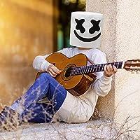 Supmaker DJ Marshmello Mask, Marshmello Cosplay Full Head Mask for Kids and Adult