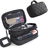 mlmsy negro profesión multifuncional 2 capa bolsa de maquillaje belleza maquillaje Kit de viaje...