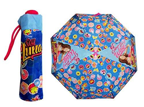 PERLETTI perletti5020450x 8cm Mädchen Mini 3Abschnitten Soja Luna Bedruckt Winddicht Regenschirm mit Display Box