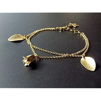 "Armband""Lily of the Valley"" 925 Silber vergoldet handgefertigt by MAJ STOUGAARD"