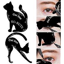 IGEMY 2 herramientas de maquillaje tipo línea de gato, para Mujeres, plantilla para delineador de ojos