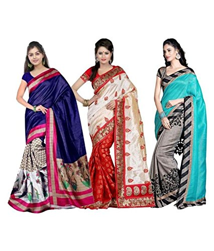 Ambe Saree saree Multicolour Beautifull Art Silk saree Combo sarees