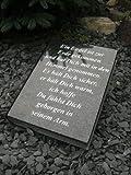Grabstein in Buchform inklusive Gedicht Liegestein Bibel Urnengrabstein 34cm x 26cm x 6cm
