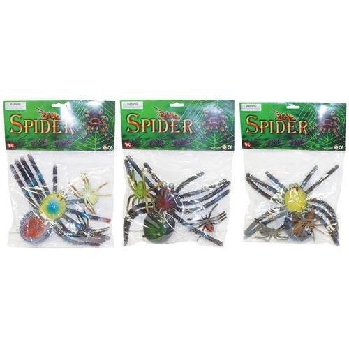 Assorted Rubber Spiders Halloween Props