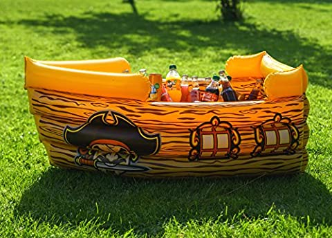 Kenley Inflatable Drinks Cooler - Floating Pirate Ship - Supplies