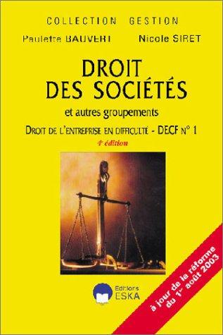 Droit de sociétés et autres groupements